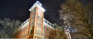 Old Main at Night, by Mike Norton, CC BY 2.0, Modified from the original.